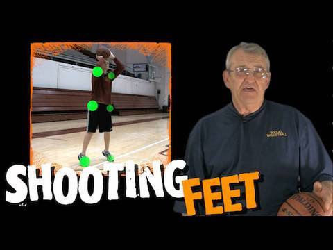 Don't square up your feet!! how to shoot a basketball -- shot science basketball