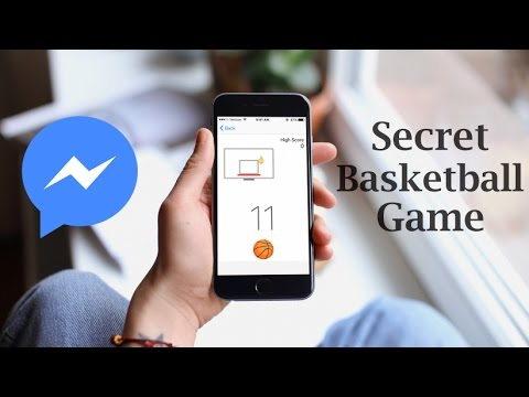 How to play the secret basketball game on facebook messenger app!