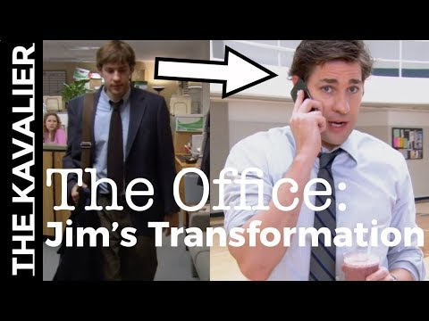 The office: jim's 9 season style transformation   from slob to suave