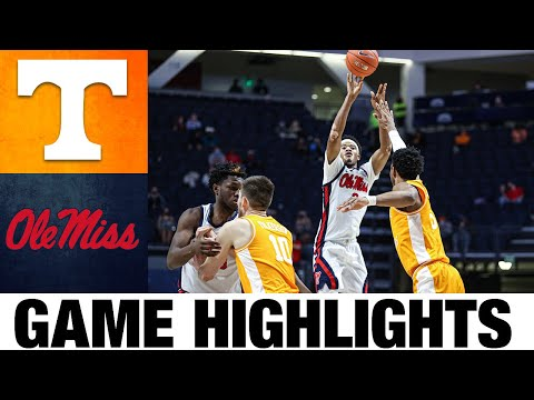 #11 tennessee vs ole miss highlights | college basketball highlights 2021