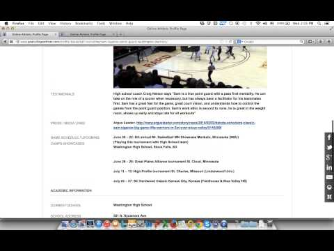 How to create a recruiting profile for college coaches