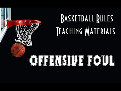 How to call an offensive foul in basketball ?