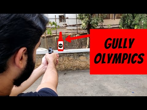 Gully olympics | bottle flip trick shot challenge | funny games | because why not
