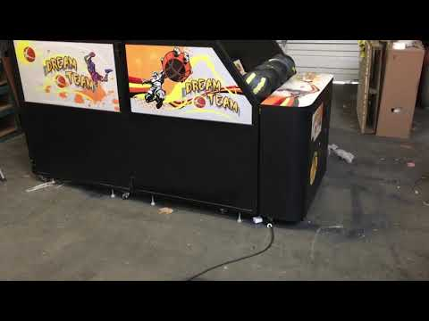 Full size dream team basketball arcade game. coin operated.