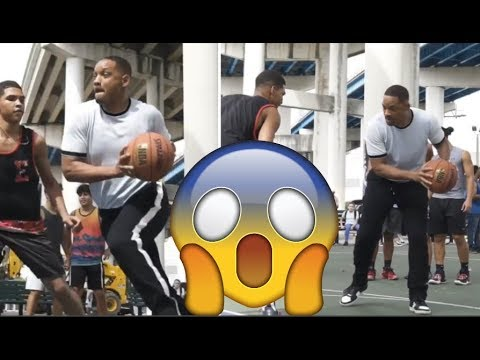 Will smith plays basketball, jokes 'kids today don't respect their elders'