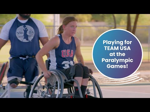 Courtney's journey to wheelchair basketball for team usa | passion, power, performance