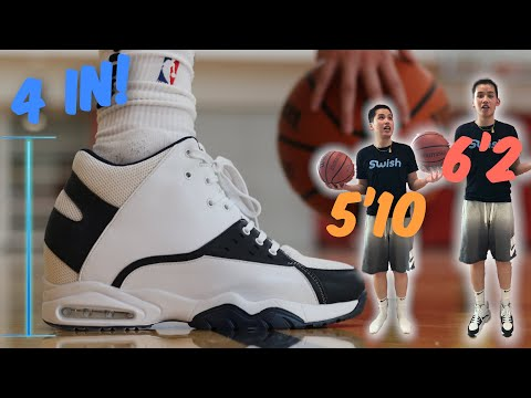 Playing basketball in height increasing shoes! | i'm 5'10 and they made me 6'2