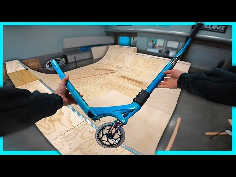 Scooter zone half pipe is here!!