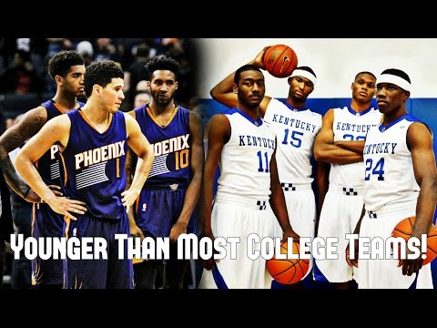 The youngest team in nba history is younger than most college teams