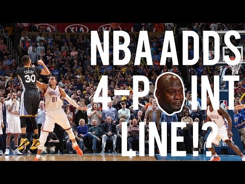 Nba announces introduction of a new 4-point line!?
