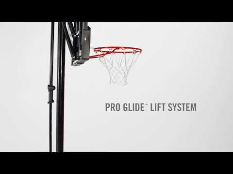 How to adjust the height on the spalding pro glide basketball hoop