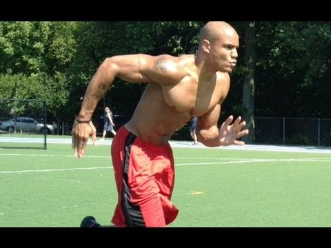 """How to burn fat fast with hiit cardio """"suicides"""" sprint drills (big brandon carter)"""