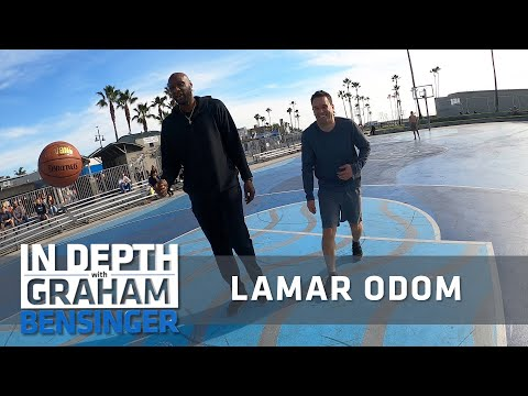 Lamar odom at the venice beach basketball courts