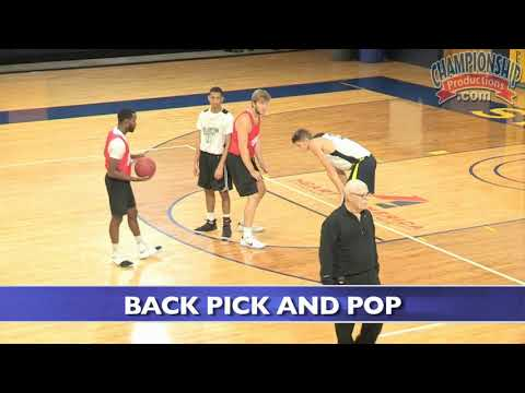 Setting a basketball screen with your back!