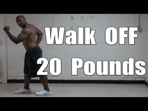Walking workout for weight loss at home (lose 20 pounds a month walking)
