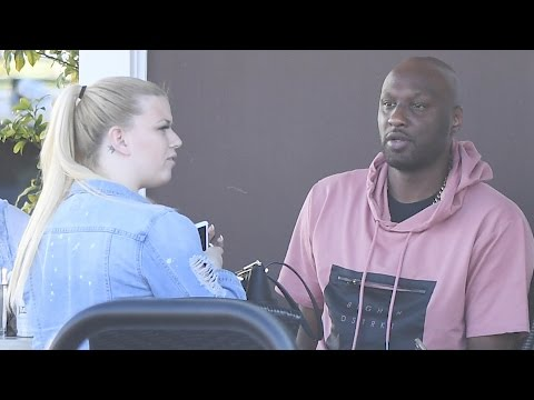 Lamar odom lunches with his assistant in sherman oaks   splash news tv