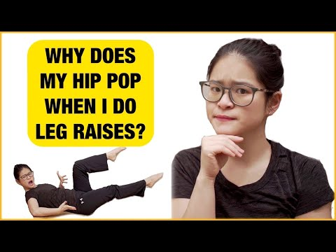 Why does my hip pop when i do leg raises? (the quickest fix)