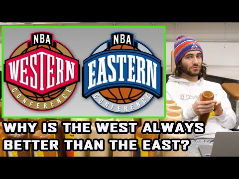 Why is the nba western conference always better than the eastern conference?