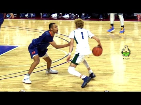 Lamelo ball vs. d1 players!! chino hills game goes down to the wire, full in depth highlights
