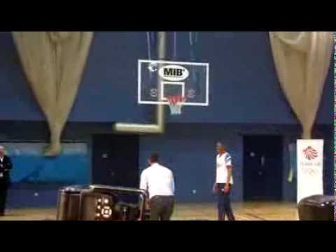Will smith shooting hoops at the imperial college london