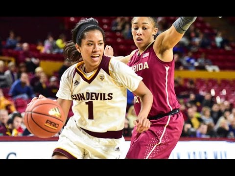 Highlights: no. 22 arizona state women's basketball tops no. 10 florida state in tempe