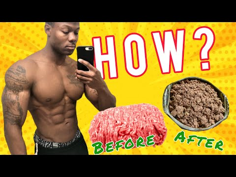 Bodybuilding meals: how to prep, cook, & package sweet tasting ground beef (muscle building foods)