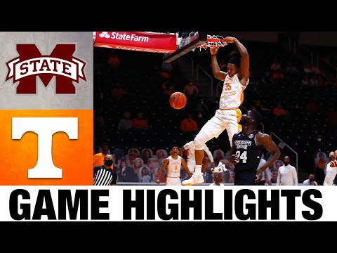 Mississippi state vs #18 tennessee highlights | 2021 college basketball highlights