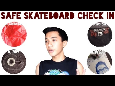 How to safely bring a skateboard on a plane - check in