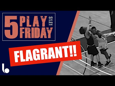 Wow! basketball flagrant foul. how to referee basketball. #5playfriday