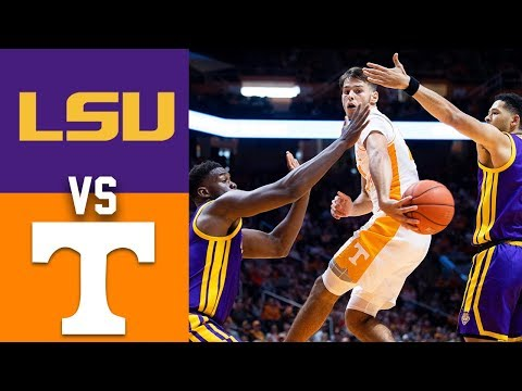 2020 college basketball lsu vs tennessee highlights