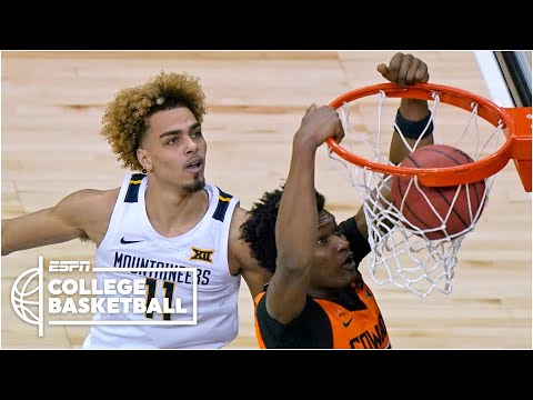Oklahoma state rallies past wvu to advance to big 12 seminfinals [highlights] | college basketball