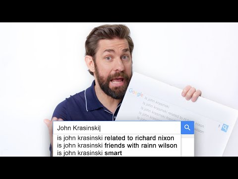 John krasinski answers the web's most searched questions   wired