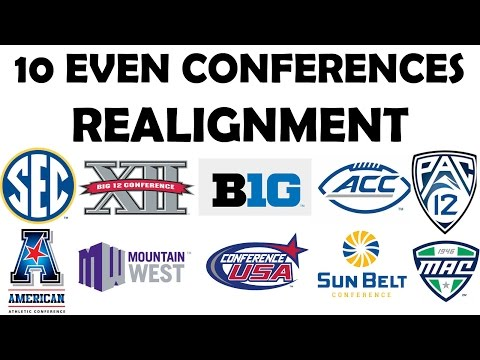 Even conferences (10 conference realignment) episode 1 - setting up conferences (ncaa football 17)