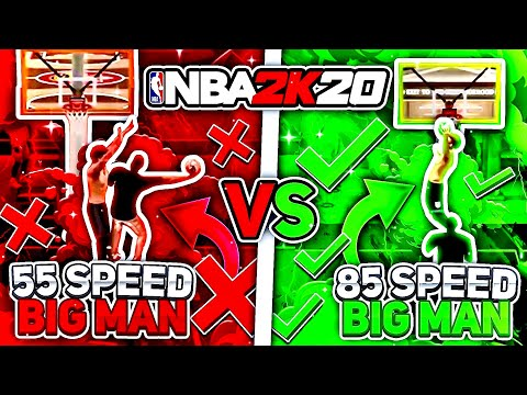 Why speed on your bigman is more important than you think in nba2k20..