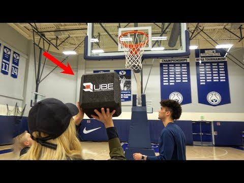 What's inside a square basketball?