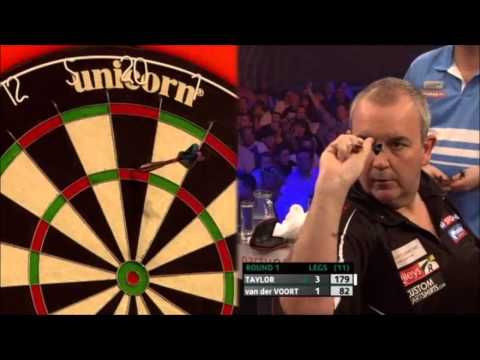 Pdc european darts championship 2013 - first round - taylor vs vd voort