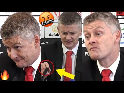 Solskjaer angry at mic fail & hilariously reacted to reporter's question! (very funny) 😂