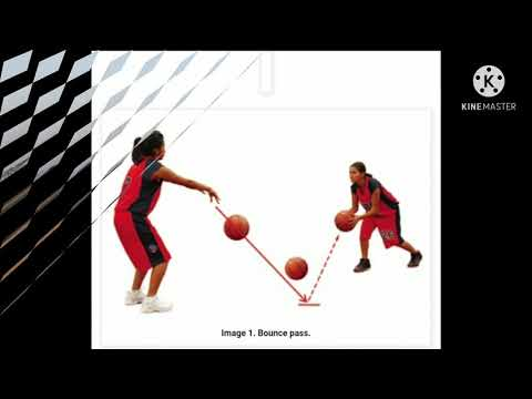 Dribble pass and bounce pass in basketball and handball game