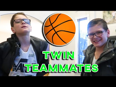 Eight year old with cerebral palsy plays basketball for the first time with his twin brother
