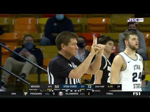 Utah state basketball team student manager gets technical foul