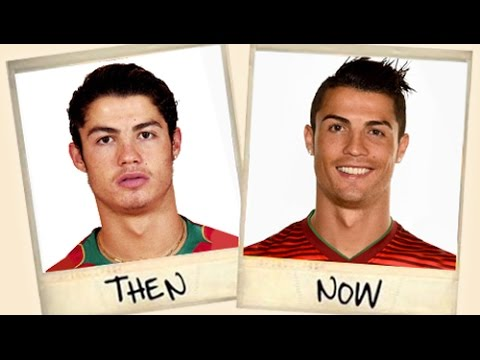 Famous football stars - then and now!