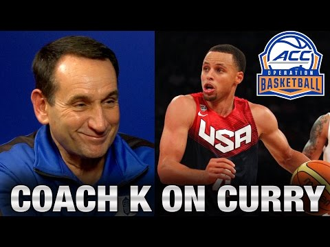 Duke's mike krzyzewski on what makes stephen curry's game so great