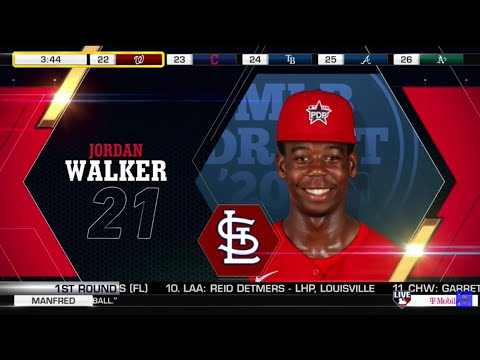 St. louis cardinals select jordan walker from decatur hs with the 21st pick of the 2020 mlb draft