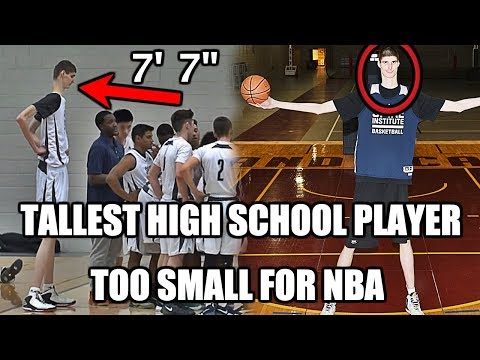 The tallest high school basketball player is too small for the nba