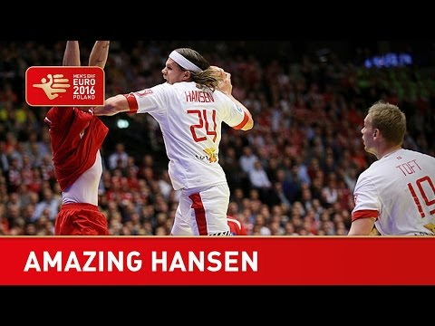 Amazing spin goal! denmark's mikkel hansen defies physics with this shot