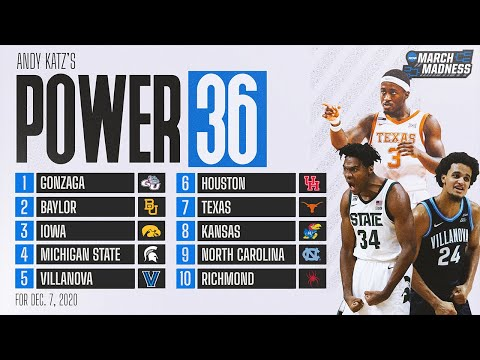 College basketball rankings: unc, texas rise in new power 36