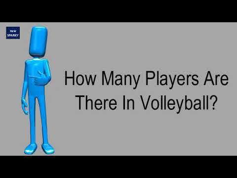 How many players are there in volleyball?