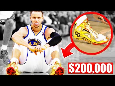 Most expensive shoes worn in an nba game (stephen curry, lebron james, kobe bryant)