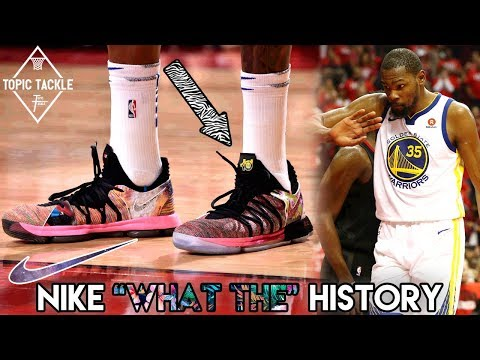 """What has kd been wearing? history of nike """"what the"""" basketball shoes"""