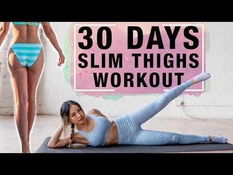 10 mins thigh workout to get lean legs in 30 days | not bulky thighs